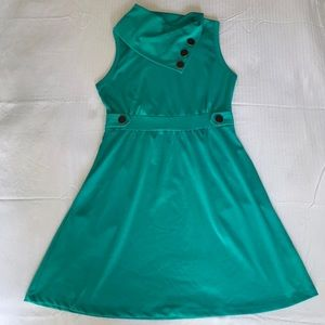 💵 Teal Green Modcloth Coach Tour Dress